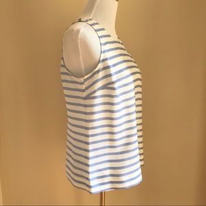 J. Crew Factory Tops - J.Crew Sleeveless Blouse- Ivory and Light Blue